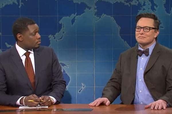 Elon Musk en el programa Saturday Night Live